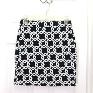 Banana Republic Navy Interlinks Pencil Skirt